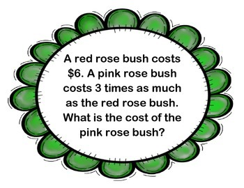 Spring Multiplication & Division Word Problems