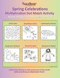 Spring Celebrations Multiplication Dot Match Activity