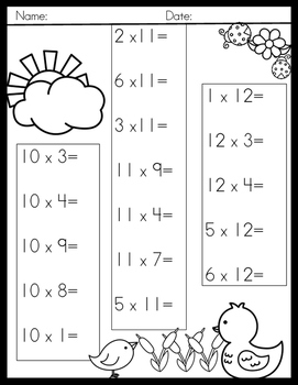 Spring Multiplication Facts
