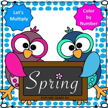 Spring Math / Multiplication Facts / Color by Number