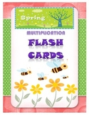 Spring Multiplication Flash Cards