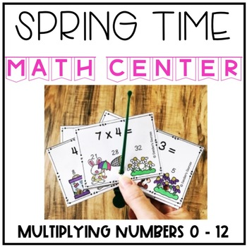 Spring Multiplication Interactive Task Cards