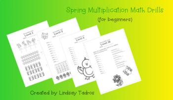 Spring Multiplication Math Drills