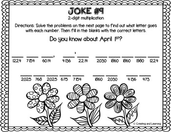 spring multiplication math jokes by creating and learning tpt. Black Bedroom Furniture Sets. Home Design Ideas
