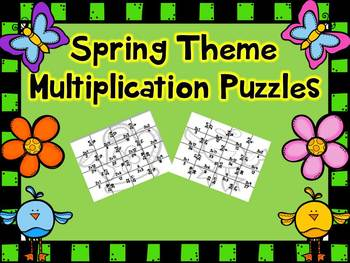 Spring Multiplication Puzzles