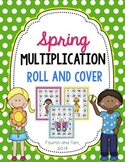 Spring Multiplication Roll and Cover {Factors 1-12}