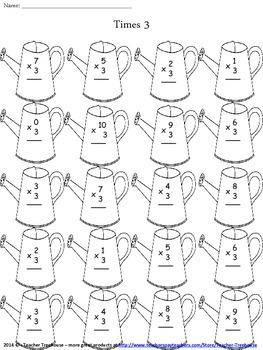 Spring Multiplication Worksheet Packet - Just Print and Go!