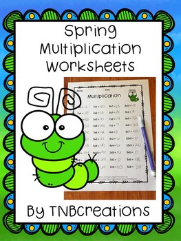 Spring Multiplication Worksheets