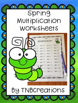 Spring Multiplication Worksheets