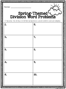 Spring Multiplication and Division Centers