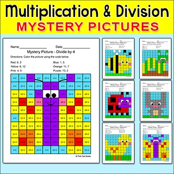 Summer Activities Multiplication & Division Mystery Pictures: Insects & Bird