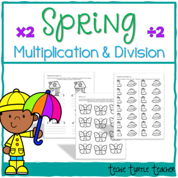 Spring Multiplication and Division Practice - 2s Facts
