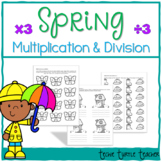 Spring Multiplication and Division Practice - 3s Facts