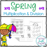 Spring Multiplication and Division Practice - 9s Facts
