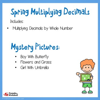 Spring Multiplying Decimals by Whole Numbers
