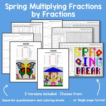 Spring Multiplying Fractions by Fractions