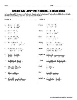 Spring Multiplying Rational Expressions Cooperative Learning