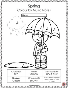 Music Colouring Pages: 26 Spring Colouring Sheets