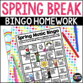 Spring Music Bingo Activity