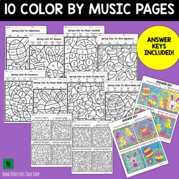 Spring Music Coloring Pages & Easter Music Coloring Pages