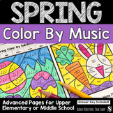 Spring Music Coloring Pages