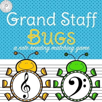 Spring Music Game: Grand Staff Bugs