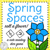 Spring Music Game: Grand Staff Spaces (Color and Ink Friendly)