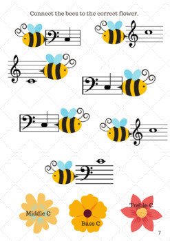 Spring Music Notes: A Fun Printable Theory Workbook for C and G Notes