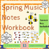 Spring Music Notes: A Fun Printable Theory Workbook for C