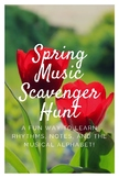 Spring Music Scavenger Hunt Game