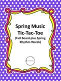 Spring Music Tic-Tac-Toe
