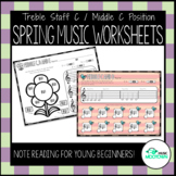 Spring Music Worksheets For Young Students & Beginners - T