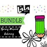 Spring Musical Coloring Sheet Bundle