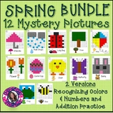 Spring Mystery Picture Bundle- Recognizing Colors and Addition