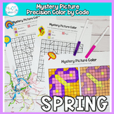 Spring Mystery Picture Color By code: No Prep Fine Motor P
