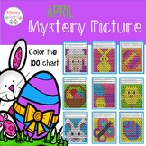 Spring Activities Mystery Picture Color a 100 chart