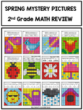 Spring Math Worksheets for 2nd Grade: Mystery Pictures