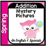 Spring Mystery Pictures - Addition 0 - 10 in English & Spanish