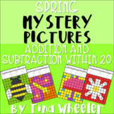 Spring Mystery Pictures Addition and Subtraction Within 20