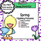Spring Mystery Pictures:  NO PREP Math Activities