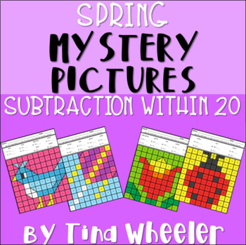 Spring Mystery Pictures Subtraction Within 20 ~ Fact Fluency