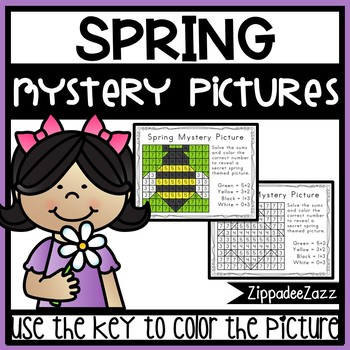 Spring Mystery Pictures Worksheets