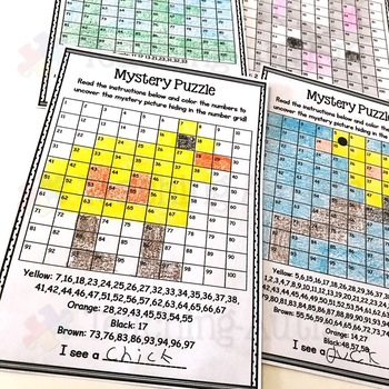 Spring Mystery Puzzle Number Grid
