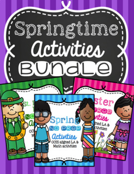 Spring NO PREP Bundle of Activities and Printables