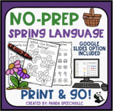 Spring NO PREP Language Pack for Speech Therapy with dista