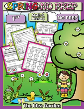 Spring NO PREP - Math & Literacy (First)