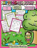 Spring NO PREP - Math & Literacy (Kindergarten)