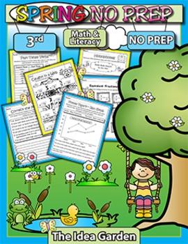 Spring NO PREP - Math & Literacy (Third)