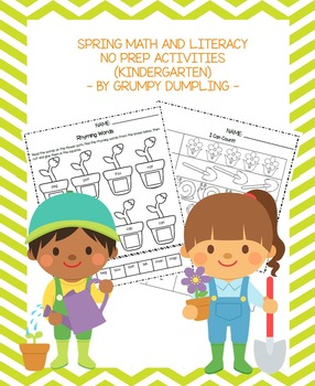 Spring NO PREP Math and Literacy Activities