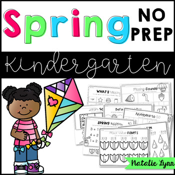 Spring NO PREP Math and Literacy for Kindergarten